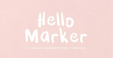 Hello Marker [1 Font] | The Fonts Master