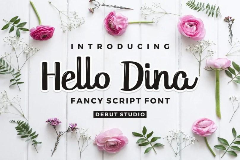 Hello Dina Script [2 Fonts]