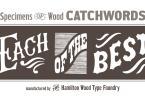 Hwt Catchwords [1 Font] | The Fonts Master