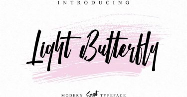 Light Butterfly [1 Font] | The Fonts Master