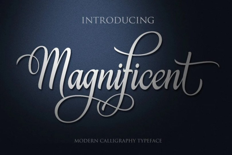 Magnificent [1 Font]   The Fonts Master