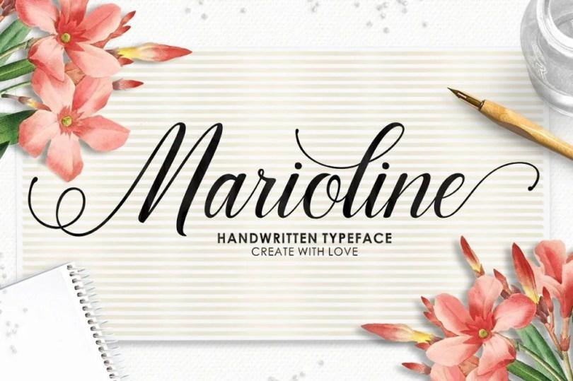 Marioline Script [2 Fonts]   The Fonts Master