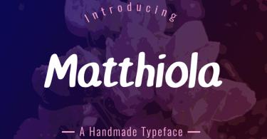 Matthiola [1 Font] | The Fonts Master