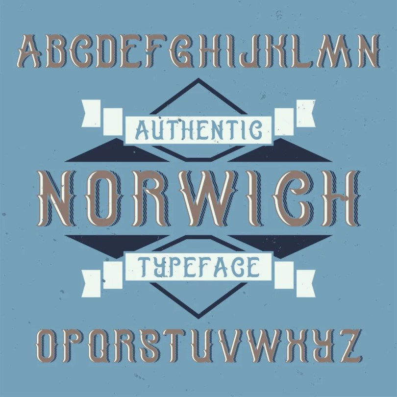 Norwich Label [6 Fonts] | The Fonts Master