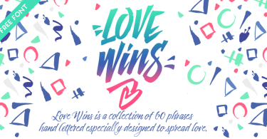 Love Wins [1 Font]   The Fonts Master