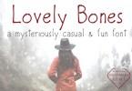 Lovely Bones [3 Fonts] | The Fonts Master