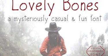Lovely Bones [3 Fonts]   The Fonts Master