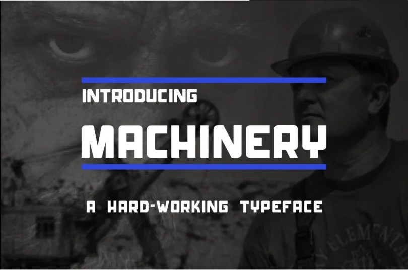 Machinery [1 Font]   The Fonts Master