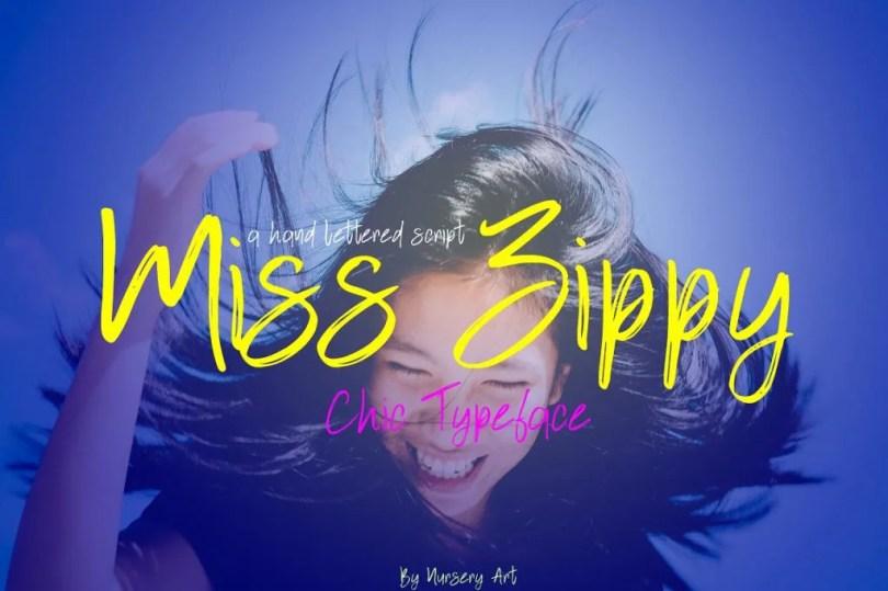 Miss Zippy [1 Font]   The Fonts Master