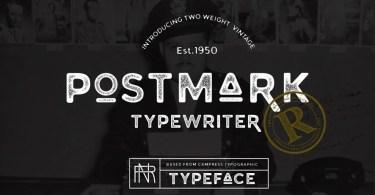 Postmark Typewriter [2 Fonts] - The Fonts Master