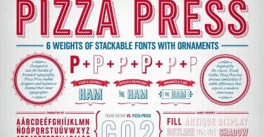 Pizza Press [11 Fonts] | The Fonts Master