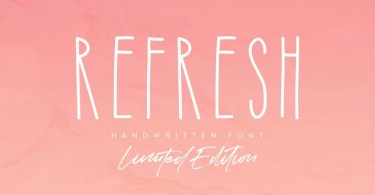 Refresh [2 Fonts] | The Fonts Master