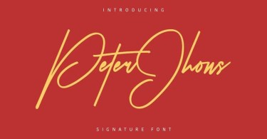 Peter Jhons [1 Font] | The Fonts Master
