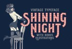 Shining Night [3 Fonts + Extras] | The Fonts Master