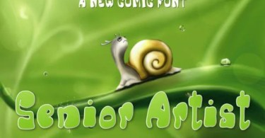 Senior Artist [1 Font]   The Fonts Master