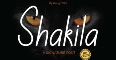 Shakila [1 Font]   The Fonts Master