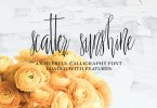 Scatter Sunshine [2 Font] | The Fonts Master
