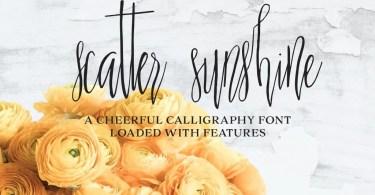 Scatter Sunshine [2 Font] | The Fonts Master