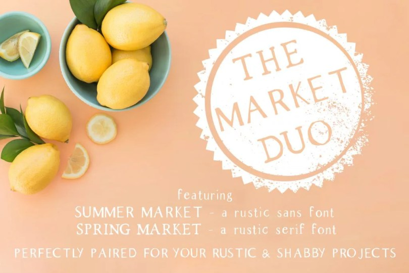 The Market Duo [2 Fonts]