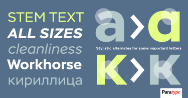 Stem Text [4 Fonts] | The Fonts Master