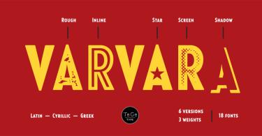 Varvara [18 Fonts] | The Fonts Master