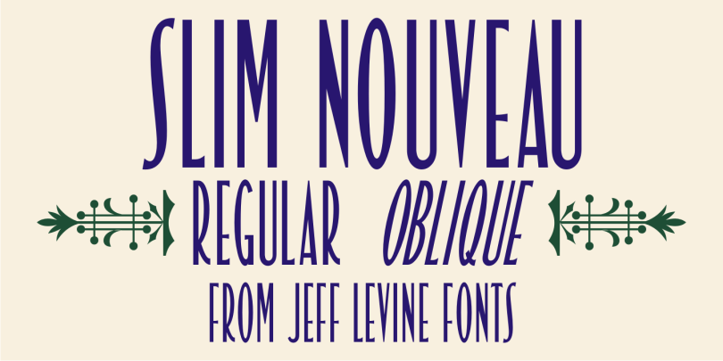 Slim Nouveau Jnl [2 Fonts] | The Fonts Master