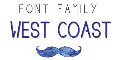 West Coast [4 Fonts] | The Fonts Master