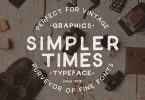 Simpler Times [1 Font] | The Fonts Master