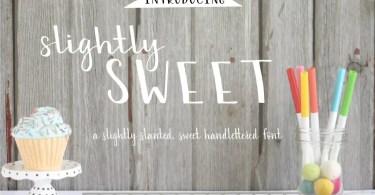 Slightly Sweet [1 Font]