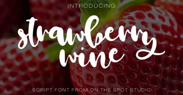 Strawberry Wine [1 Font] | The Fonts Master