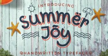 Summer Joy [1 Font + Extras]   The Fonts Master