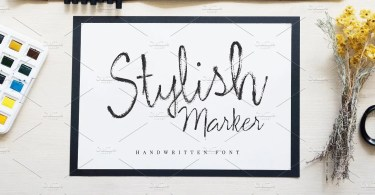 Stylish Marker [1 Font] | The Fonts Master
