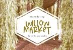 Willow Market &Amp; Bonus Script [2 Fonts] | The Fonts Master