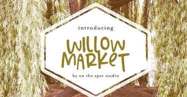 Willow Market &Amp; Bonus Script [2 Fonts] | The Fonts Master