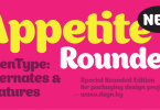 Appetite Rounded [1 Font] | The Fonts Master