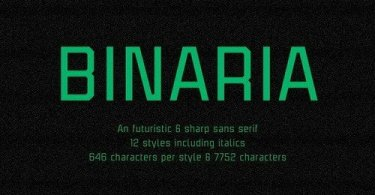 Binaria Super Family [12 Fonts] | The Fonts Master