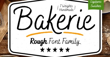 Bakerie Rough [7 Fonts] | The Fonts Master