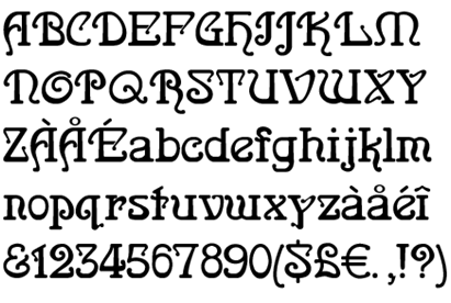Baroque [1 Font]   The Fonts Master