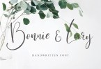 Bonnie &Amp; Lary Script [1 Font] | The Fonts Master