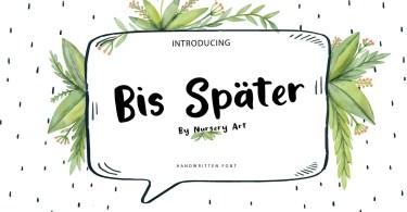 Bis Spater Handwritten Script [1 Font] | The Fonts Master