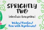 Sprightly Two [1 Font]   The Fonts Master