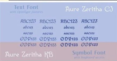 Aure Zeritha Super Family [8 Fonts]   The Fonts Master