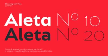 Bw Aleta Super Family [36 Fonts]