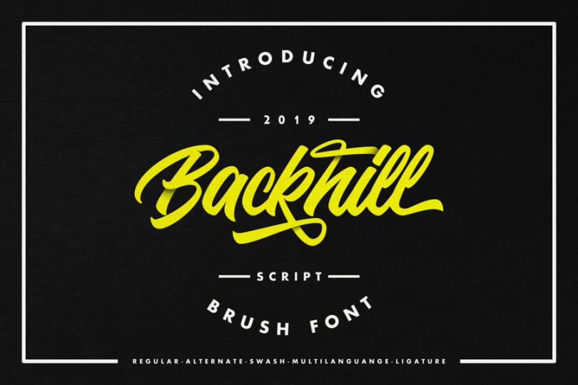 Backhill [1 Font]   The Fonts Master