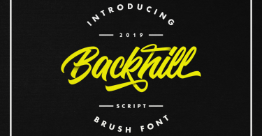 Backhill [1 Font] | The Fonts Master