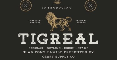 Tigreal [4 Fonts] | The Fonts Master