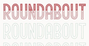 Roundabout [3 Fonts] | The Fonts Master