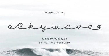 Skywave [1 Font]   The Fonts Master
