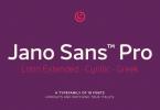 Jano Sans Super Family [18 Fonts] | The Fonts Master