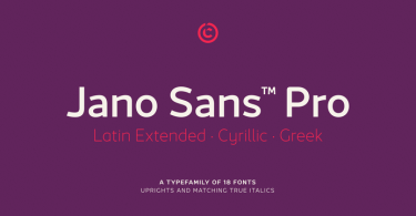 Jano Sans Super Family [18 Fonts] | The Fonts Master